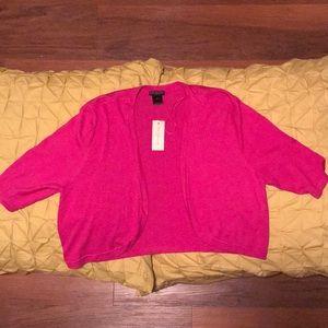 Pink Elbow Length Ann Taylor Shrug Cardigan NWT